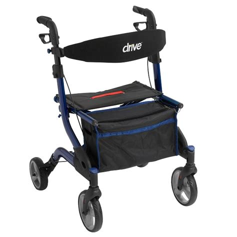 rollator with seat second drive i walker drive rolling walkers w