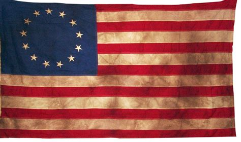 vintage tea stained betsy ross historical american 13
