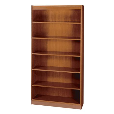safco 2 shelf square edge veneer bookcase cherry kitchen