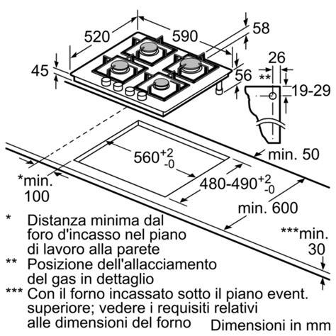 piano cottura misure standard piano cottura misure standard cucine componibili base con