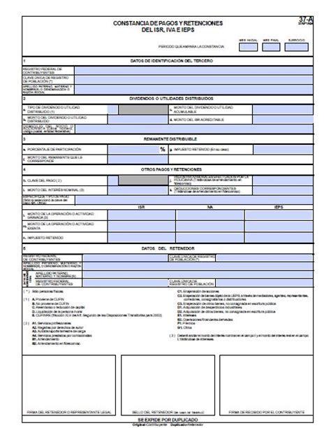 Constancia De Pagos Y Retenciones 2016 Formato Pdf | formato 37 a editable 2013 constancia de retenciones de