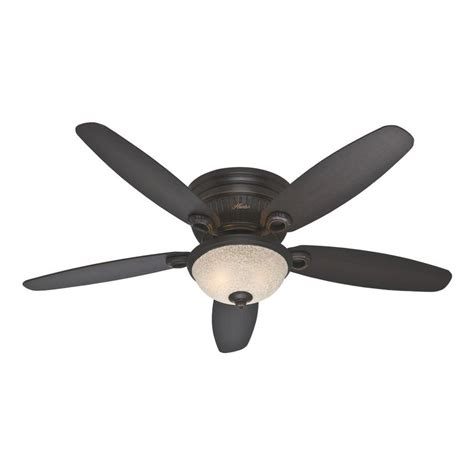 flush mount ceiling fan with light kit and remote shop ashmont 52 in onyx bengal bronze flush mount