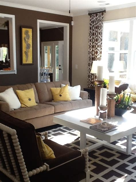 yellow and brown living room 11 best images about living room on pinterest benjamin