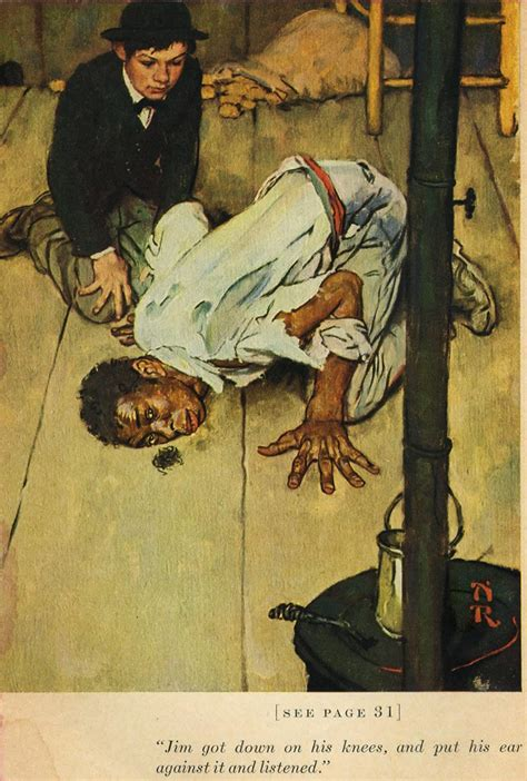 huckleberry finn dark themes norman rockwell illustrates mark twain s tom sawyer