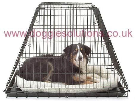 cage for car 3 door car cages and 2 door crates for cars doggie solutions