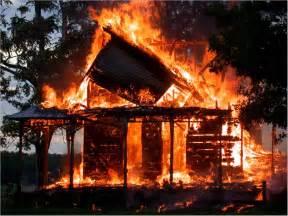 fracked burning the house