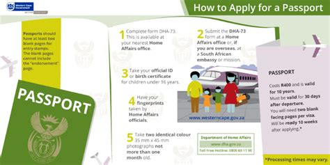 where do you go to apply for section 8 applying for a passport western cape government