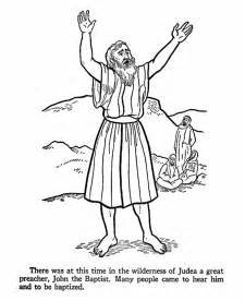 the baptist coloring page the baptist coloring page coloring home
