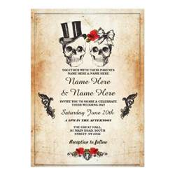 silver grey amp black theme halloween wedding invitations