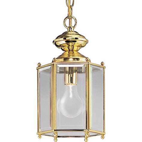 Brass Pendant Lighting Shop Progress Lighting Brassguard 10 In Polished Brass Outdoor Pendant Light At Lowes