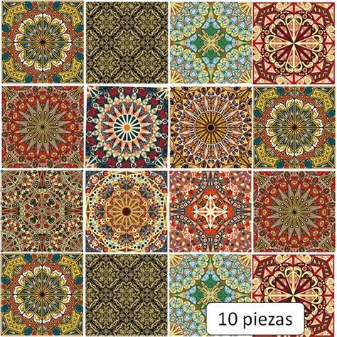 azulejos adhesivos cocina bano mosaico diseno arabe lavable  en mercado libre