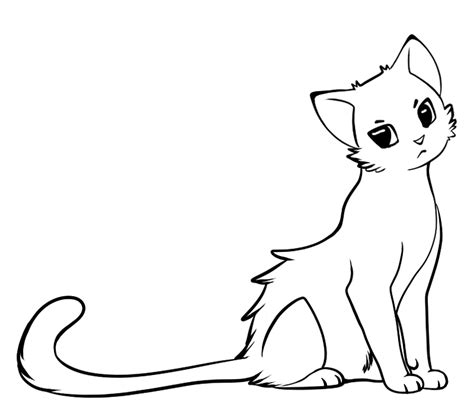 line art cat cliparts co