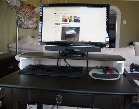 small computer desk with stand for living room ikea