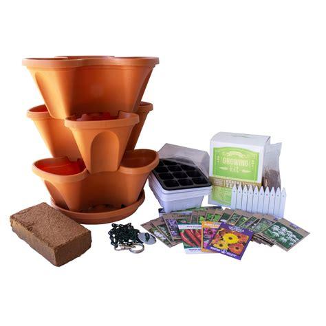 garden stacker planter medicinal herbal tea herb garden