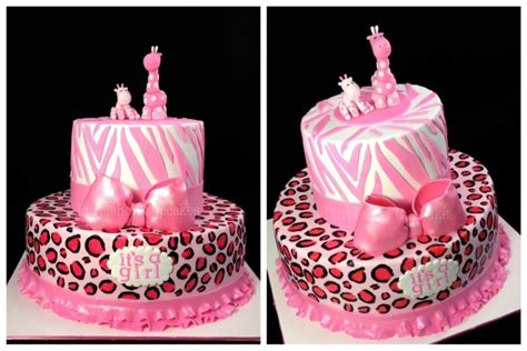 Safitri Pink safari pink baby shower cake cakecentral