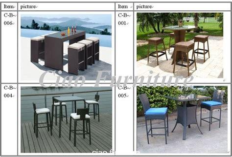prestige outdoor rattan patio furniture bar set buy