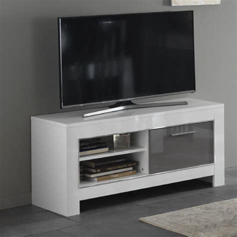 small white tv cabinet lorenz small tv stand in white and grey high gloss 29279