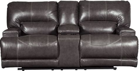 dual power reclining loveseat with console mccaskill gray power reclining console loveseat