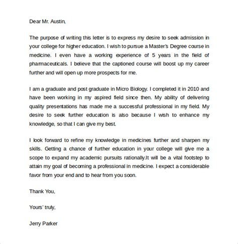College Intent Letter Exles 7 College Letter Of Intent Sles Exles Formats Sle Templates