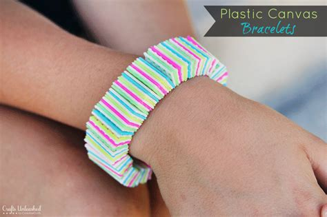 How to: Plastic Canvas DIY Bracelets
