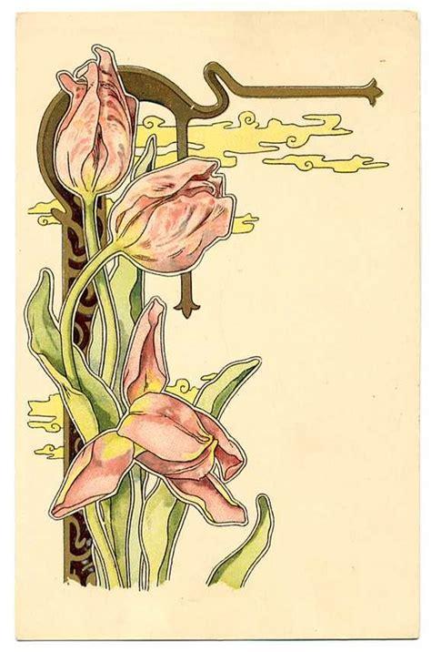 printable art nouveau designs art nouveau flowers art nouveau pinterest flower