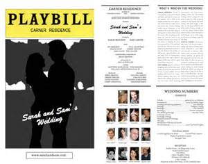Playbill Template by Playbill Programs Weddingbee