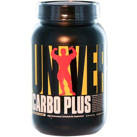 Universal Nutrition, Carbo Plus, High Performance Carbohydrate Supplement, Natural Flavor, 2.2