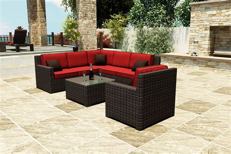 sectional patio furniture sectional patio furniture patio contemporary with 7 capistrano sectional beeyoutifullife