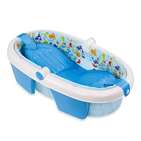 summer baby bathtub summer infant 174 foldaway baby bath tub bed bath beyond