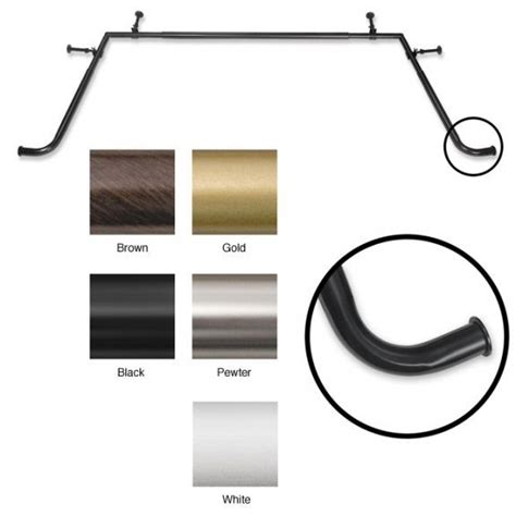 blockaide bay window curtain rod 17 best images about curtain rods shower hooks and all