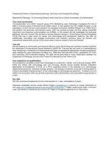 Email Cover Letter Postdoc Cover Letter For A Phd Position Huanyii
