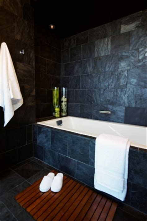 blue slate tile bathrooms pinterest