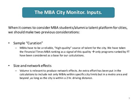 Mba City by Esade Mba City Monitor 2015