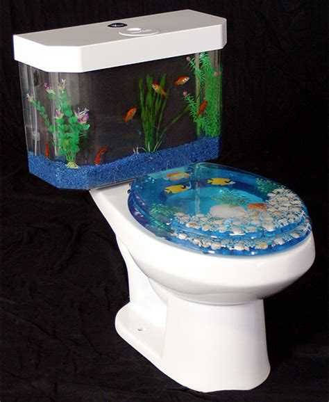 bathroom fish tank toilet aquarium