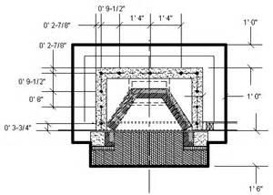 masonry fireplace dimensions tech info