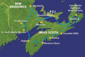 east coast map canada east coast of canada