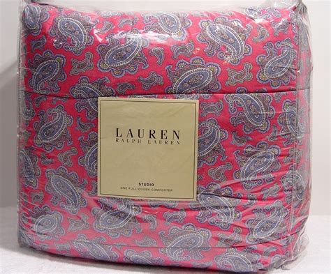 discontinued ralph lauren paisley bedding new ralph lauren studio paisley pink full queen comforter