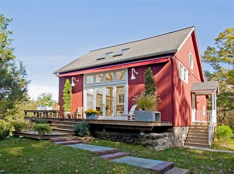 Narrow 2 Story House Plans rear view of remodeled barn in bucks county farmhouse