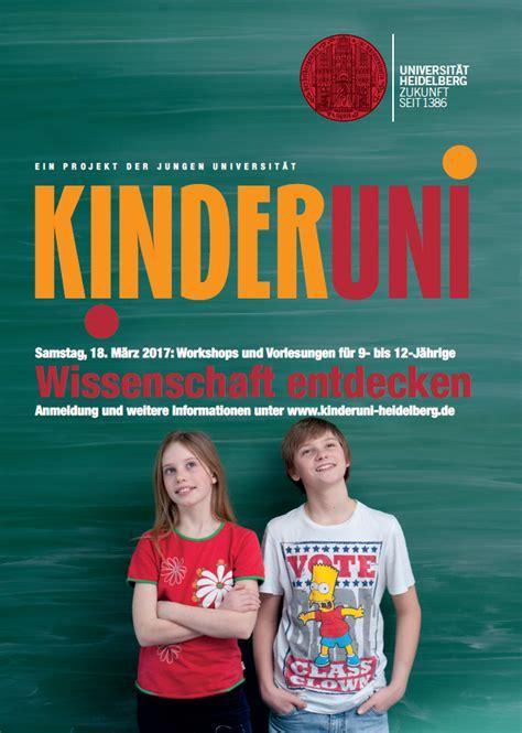 Uni Heidelberg Bewerbung Fragen Kinderuni Universit 228 T Heidelberg