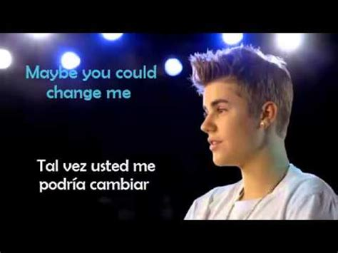 biography justin bieber en ingles change me justin bieber lyrics letra en espa 241 ol ingles