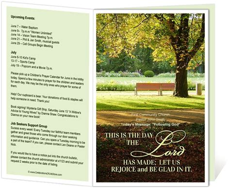 14 Best Images About Printable Church Bulletins On Pinterest Parks Fishers Of Men And Church E Bulletin Template