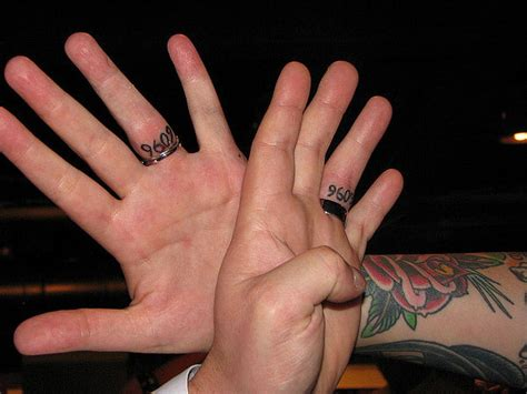 wedding date tattoos 40 of the best wedding ring designs