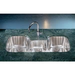 3 Bowl Kitchen Sink Undermount Franke Rgx170 Regatta Bowl Stainless Steel Undermount Sink