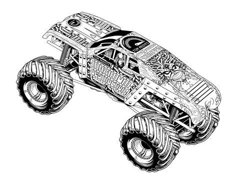 free coloring pages of batman monster jam