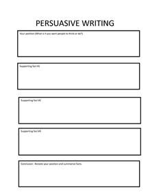 Writing The Persuasive Essay by Persuasive Writing Paragraph Students Using Essay