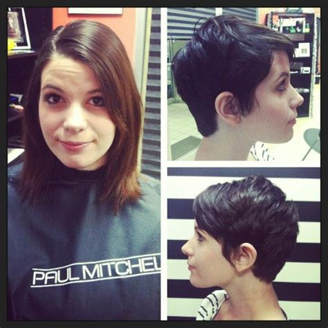 pixie hairstyles before and after before after pixie cut chic pinterest stylists