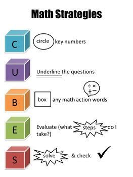 Mat Acronym by Cubes Math Problem Solving Strategy Problem Solving