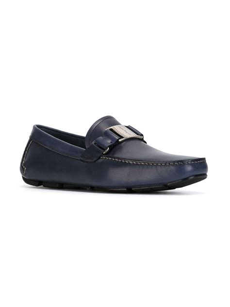 ferragamo shoes ferragamo parigi driving shoes in blue for lyst