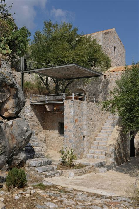 historical stone building  greece transformed