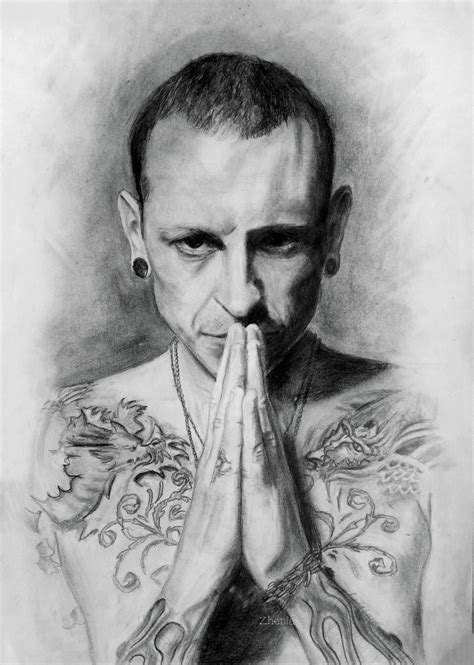 chester bennington by zheniaa on deviantart